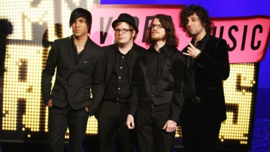 Best Group Nominees Fall Out Boy arrive